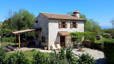 Photo for Istrian stone house with fireplace and garden, 2 km from the sea