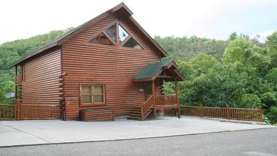 Photo for July- only 1 week left!!!!  4 bdrm, 4 bath cabin, sleeps 18, theater, gameroo