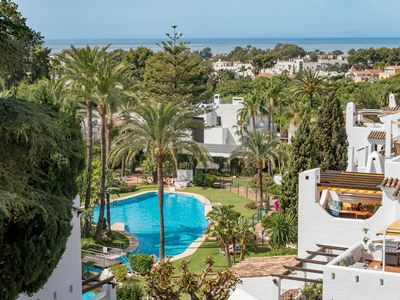 Photo for AB2,Walk to beach, Puerto Banus, sea view, sleep 4