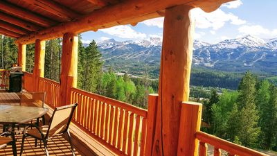 Photo for Fabulous Log Home, Unbeatable Views, 1mile from Main St, Sauna, Hot Tub