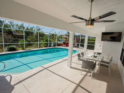 Photo for Newly Listed! Covered Lanai w/TV-Heated South Facing Pool, Newly Renovated home w/3 king beds!