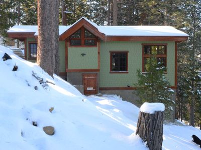 Photo for Custom Cottage, Fireplace, Views, A/C, Private Deck, Central to Yosemite Park