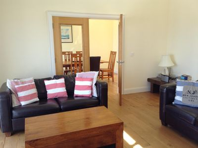 Photo for Bright spacious house with sea views and balcony. Golf, Surfing, Walks, Scenery.