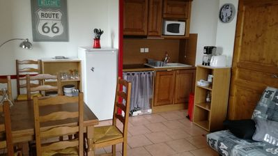 Photo for 2 rooms near the telemix, not overlooked, renovated 6 sleeps