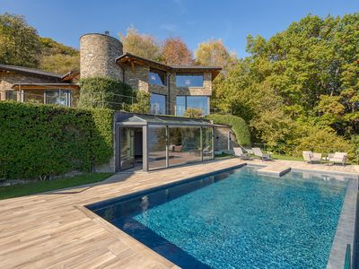 Photo for Dream villa with pool above Stresa, with stunning views over Lake Maggiore!
