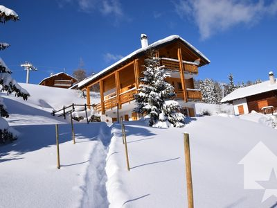 Photo for NEW Superb chalet 7p ski in / out Les Collons 2000m