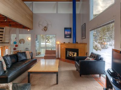 Photo for FLEXIBLE CANCELLATIONS! Big Sky Resort- Ski in/out Retro Mountain Retreat