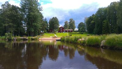 Photo for Rural farmhouse with 2 ha garden woods and lake with own beach in Dalarna