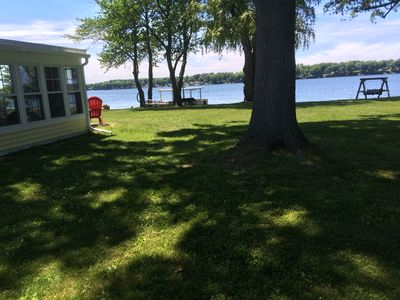 "Photo for The  ""Yellow Cottage"" waterfront Little Sodus/Fair Haven Bay"