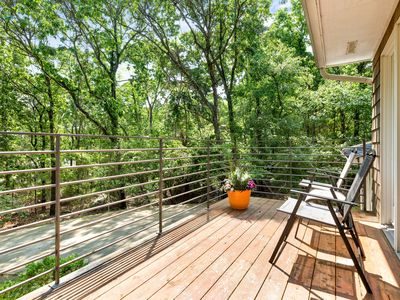 Photo for Spacious home near the water w/ a furnished balcony, partial bay views, & bikes!