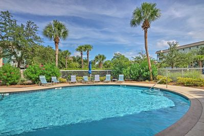 Take a dip in one of the refreshing community pools!