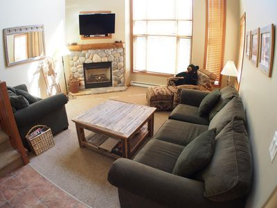 Photo for Incredible multi level 3 bedroom + den townhouse with easy access to nearby runs and lift