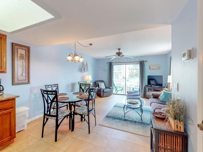 Photo for Contemporary dog-friendly home with shared pool - two blocks from the beach!