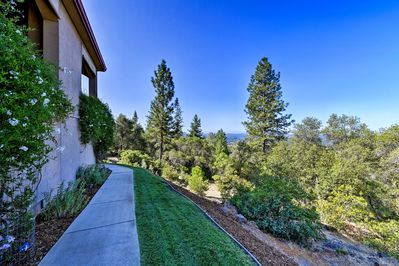 This home boasts stunning views of the Sierra Nevada Mountains.