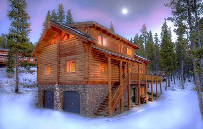 Photo for Enjoy a True Mountain Getaway in the Updated Rustic Log Home Close to Everything