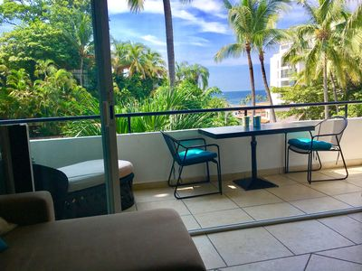 Partial ocean view from living & Balcony