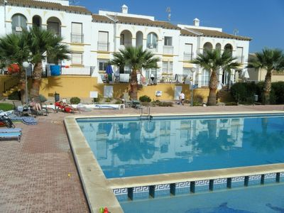 Photo for Golf/beach Apartment with Large Swimming Pool, Free WiFi and English TV