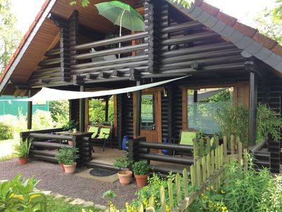 Photo for Holiday house - EIFEL-LOUNGE log cabin