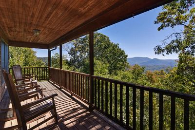 Long Range Mountain Views from the Covered Porch
