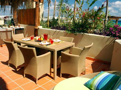 Photo for Winner of Top 25 Small Condo/Hotel in All Of Mexico-Penthouse 3 Bedr -Beach Club - Promos #413