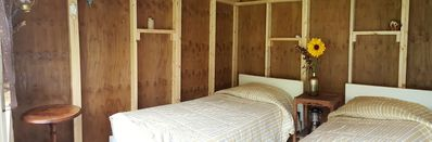 Photo for Rustic Cozy Sleeping Hut - Two Twin Beds