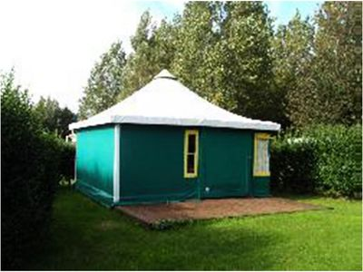 Photo for Camping de l'Orival *** - Canvas Bungalow with bathrooms 3 Rooms 5 Persons