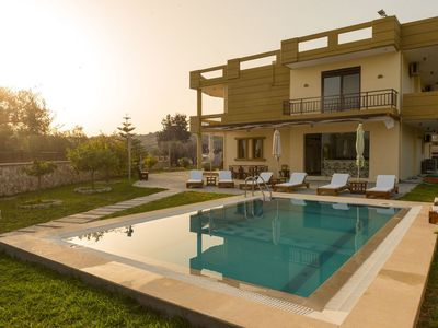 Photo for This 4-bedroom villa for up to 8 guests is located in Afandou and has a private swimming pool, air-c