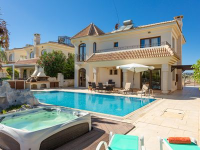 Photo for Villa Nemesis: Large Private Pool, Walk to Beach, Sea Views, A/C, WiFi, Car Not Required, Eco-Friend