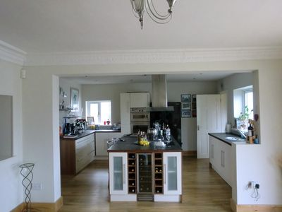 Large open plan kitchen and dining room