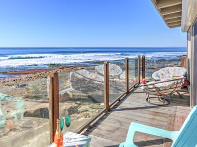 Beach Front Bungalow right on the water in the Village of La Jolla.