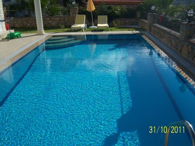 Photo for Villa-ar-y-Bryn has its own private Pool, Gardens and Barbecue area.