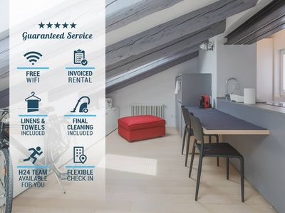 Photo for SANGIUSTO WALL, attic for 4 guests with AC