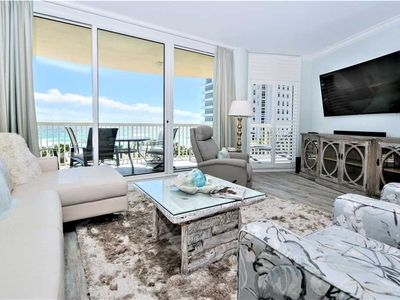 Photo for Completely Remodeled Beachfront Condo! Free Beach Chair Service Included!