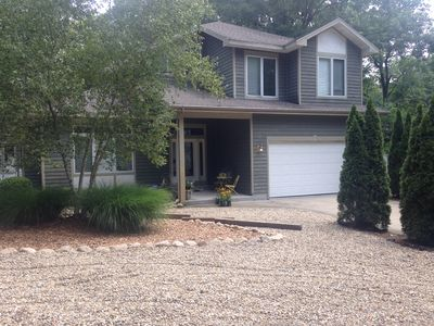 Photo for Beautiful Home with tons of space in a wooded & private area of Michiana Shores