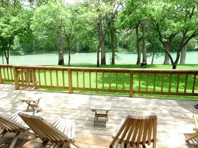 Photo for Enjoy life on the river! Spacious home! Views! Wildlife! 1 mile from Gruene!