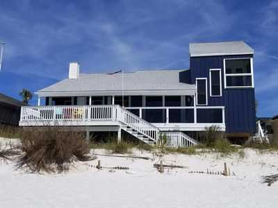 Photo for FantaSea Beach House! A Private Home. The beach is your back yard! Sleeps 14!