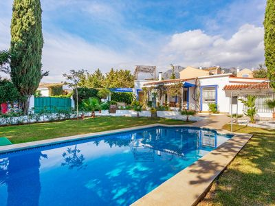 Photo for This 4-bedroom villa for up to 8 guests is located in Marbella and has a private swimming pool, air-