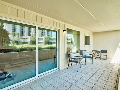 Photo for Ground floor, only grass and sand on your walk to the beach.  Unit sleeps 6.