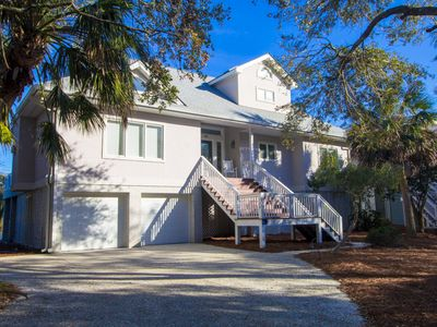 Photo for On a quiet street just off Tarpon Blvd this 2 story, 4 bedroom house has terrific views of the marshes, Fripp Inlet and the ocean!