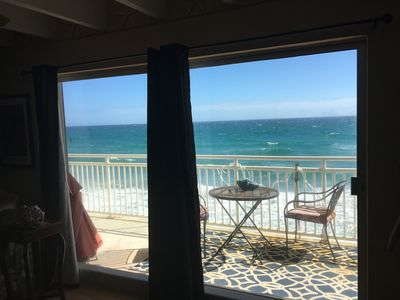 Photo for Direct oceanfront with 80 foot balcony