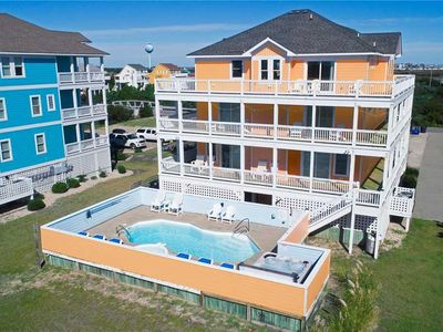 Photo for Oceanview Estate, Rodanthe-Elevator, Pool, Hot Tub, Game Rm, Dog-Friendly & More