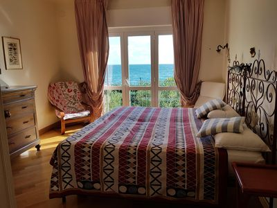Photo for Exclusive apartment by the beach. amazing sea view from wide Terrace and Bedroom