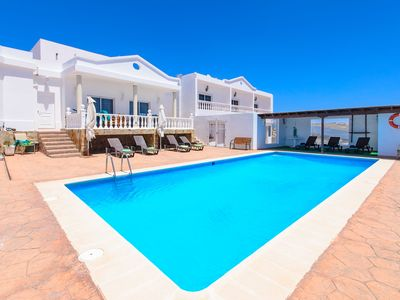 Photo for Tranquil Villa Calera 2 with Shared Pool, Ocean View, Terrace & Wi-Fi; Parking Available