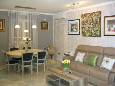Photo for Nice apartment Amfora, 400m from the beach, with large terrace