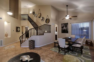 Grand Staircase. Living Room & Dinning Room.