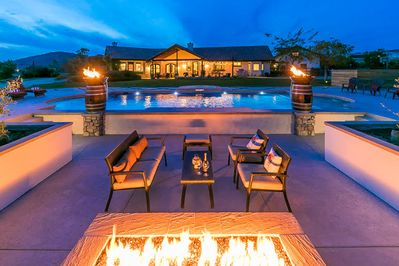 Enjoy this amazing outside living area at this home in Temecula! (Please note - firepit has been changed to a smaller propane version)