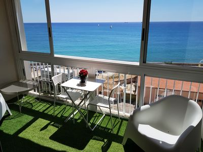 Photo for Flat with super sea views. Wifi, Air-co, Satellite TV.