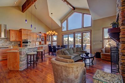 Big View Lodge - a SkyRun Breckenridge Property - Gorgeous mountain and ski area views from the living room