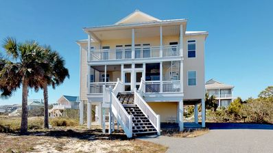 """Photo for No Hurricane Damage! Steps to the Beach, with Private Pool! Pets welcome, Fireplace, Free beach gear, 4B/4.5BA """"A Serene Sunrise"""""""