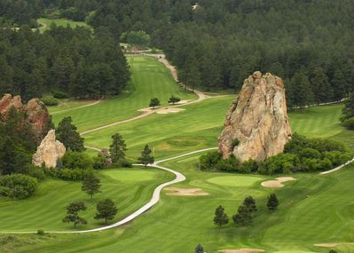 Perry Park golf course,  view from above.